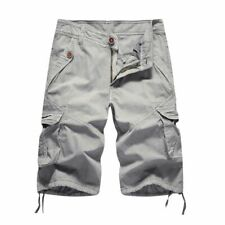 Summer Solid Military Shorts Cotton Soft Fashion For Men Knee Length Clothes New