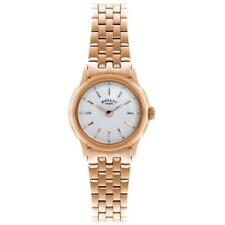 Rotary Women's Rose Gold Plated Stainless Steel bracelet Quartz Watch LB02573/01