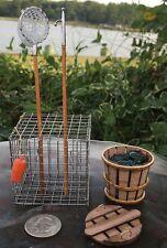 #WK2, Miniature Waterman Kit (Crab Net, Trap, Boat Hook, Bushel Basket & Crabs)