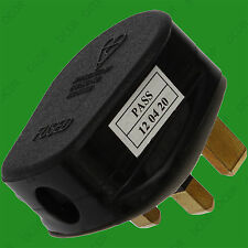 Negro 13a de fusible Estándar GB 3 Pin Red Eléctrica doméstico Enchufe