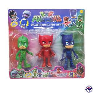 15CM 3 Set PJ Masks Figurine Box Set Catboy Owlette Gekko Standing Kids Toy AU S