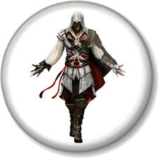 "Assassins Creed Ezio White 25mm 1"" Pin Button Badge XBOX 360 PS3 Video Game Geek"