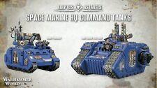 Mundo Warhammer espacio Marina tanques de comando HQ Exclusivo
