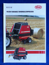 0144) Vicon Variable Rundballenpressen RV 157 187 - Prospekt Brochure