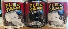 "Flex Tape Strong Rubberized Waterproof Tape, 4"" x 5' Black, White, or Clear"