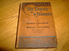 GEORGE/WEEDON GROSSMITH-THE DIARY OF A NOBODY-SIGNED x 2-1ST-1892-HB-G-MEGA RARE
