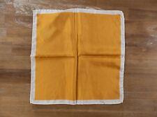 PAL ZILERI yellow silk pocket square authentic - NWOT