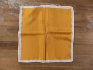 PAL ZILERI yellow silk pocket square authentic