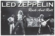 Led Zeppelin Stage Photo Rock And Roll 2 Poster New !