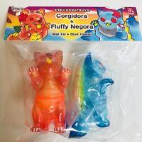 Konatsu 6 28 FLUFFY NEGORA & CORGIDORA Mai Tai Blue Hawaii sofubi vinyl figure