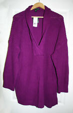 Lauren Ralph Lauren Womens Plus 3X Purple 100% Cotton Pullover Sweater NWT