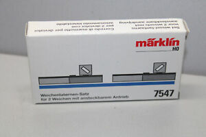 Märklin 7547 Soft Lights Set For 2 Points Gauge H0 Boxed