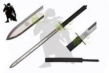 "28"" Full Tang Two Tone Straight Blade Ninja Tactical Sword w/Shoulder Sheath NIB"