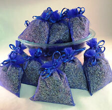 Set of 30 Lavender Sachets made with Royal Blue Organza Bags