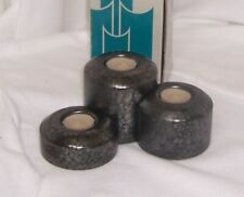 PartyLite Stepping Stones Set of Three Tealight Holders Glazed Ceramic