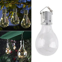 5 LED Waterproof Solar Rotatable Garden Camping Hanging Lamp Light Bulb Decor>