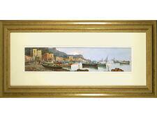 Original Oil on Canvas - Amalfi Coast, Italy - Signed Esposito, Framed
