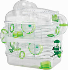 Acrylic Clear 3-Tiers Hamster Rodent Gerbil Mice Habitat With Top Exercise Ball