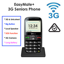 "3G SENIORS MOBILE PHONE ""Olitech Easy Mate+"" SOS CALL BIG BUTTON, 3MP Camera"