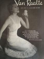 1954 Van Raalte Womens Camisole Slip Lingerie Original Fashion  Ad