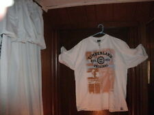 Timberland t-shirt short sleeve white HOLIDAY 3 front and back 3XL/3TG Tall NEW
