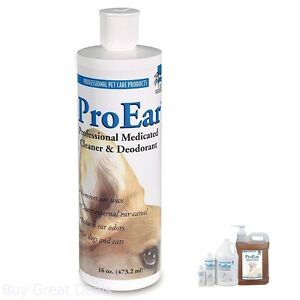 Professional Medicated Pet Ear Cleaner Versatile Top Performance ProEar Dog Cat
