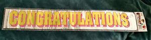 """""""Congratulations"""" @ 6' Foil Party Banner - Graduation - Retirement - Promotion"""