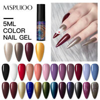 MSRUIOO Nail Gel Polish Soak-off UV/LED Matte Effect Color Manicure Varnish 5ml