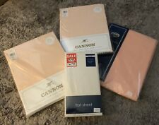 Lot x4 Double Flat/Fitted Sheets NEW & SEALED Resale Profit Gifts Peach Cream