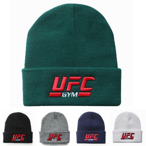 Beanie Hat Mens Ladies UFC Slouch Winter Woolly Ski Knitted Turn Up Warm GYM Cap