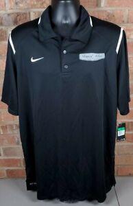 Stewart-Haas Racing Ford Team Issue Mens Nike Golf Polo Shirt XL Black/White NEW