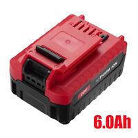 6.0Ah for PORTER CABLE 20V Max PCC685L PCC680L Tool Lithium-Ion 20 Volt Battery