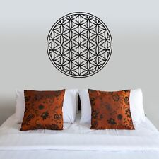 Flower Of Life Wall Decal Inspirational Vinyl Geometry Headboard Mural Art Decor