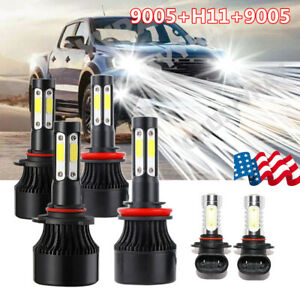 For 2009-2017 Dodge Ram 1500 2500 3500 4500 5500 Combo LED Headlight Fog Bulbs