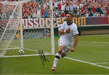 Clint DEMPSEY SIGNED Autograph 12x8 Photo AFTAL COA USA America Football