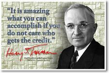 President Harry Truman - It Is Amazing What You Can Accomplish...  NEW POSTER