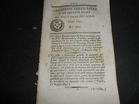 1842 REGNO DUE SICILIE CREAZIONE CONSIGLIO EDILIZIO IN PALERMO MASSAFRA CANOSA