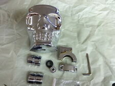 HARLEY CHROME SKULL KRUZER CADDY CUP HOLDER  HANDLEBAR CLAMP  100723