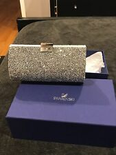 Brand New without tags Authentic Swarovski Crystal silver purse clutch bag