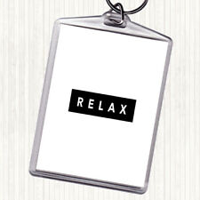 White Black Dark Relax Quote Bag Tag Keychain Keyring