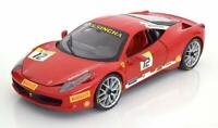 FERRARI 458 CHALLENGE RED 1:18 SCALE MODEL RED COLLECTOR PIECE CLASSIC HOTWHEELS