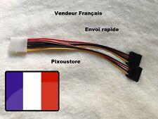Adaptateur Molex vers 2x SATA femelle / Molex to 2x SATA Female Power Cable