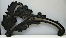 Cast Iron Floral Bridge Lamp Arm