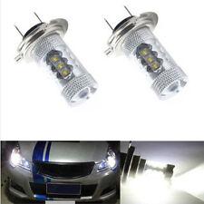 2X H7 80W 12V LED WHITE 6500K BULBS HEADLIGHT LIGHT LAMP CANBUS ERROR FREE POP