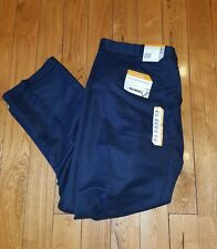 NWT Mens SAVANE Navy Microfiber Performance No Iron Pants Slacks 32W 30L $65