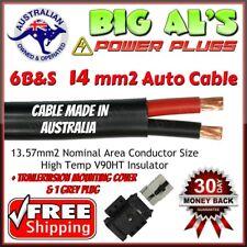 6m 6 B&S Twin Core Automotive Auto Cable 50A Anderson Cover Mount 1 Grey Plug