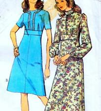 "Vintage 70s DRESS Sewing Pattern Bust 36"" 92 cm Sz 12 RETRO Maxi PARTY Evening"