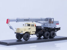 Scale model truck 1/43 Mobile crane KC-3575 (on the chassis KRAZ-255B1)