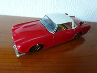 TRIUMPH TR4 - VINTAGE TINPLATE MODEL - VERY RARE from the 1960's - SEE PHOTOS.