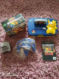 Nintendo 64 Konsole Pokemon Pikachu & Pokemon Stadium N64 Spiel-Konsolen Bundle